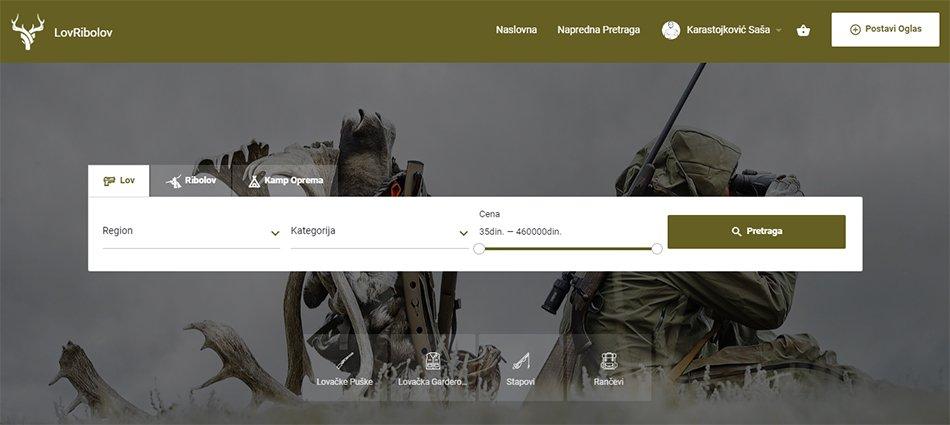Agencija za digitalni marketing Bluelinemedia - Naslovna stranica sajta LovRibolov