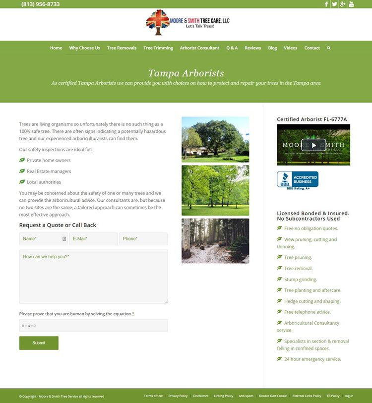 Moore & Smith - Redizajn Web Sajta