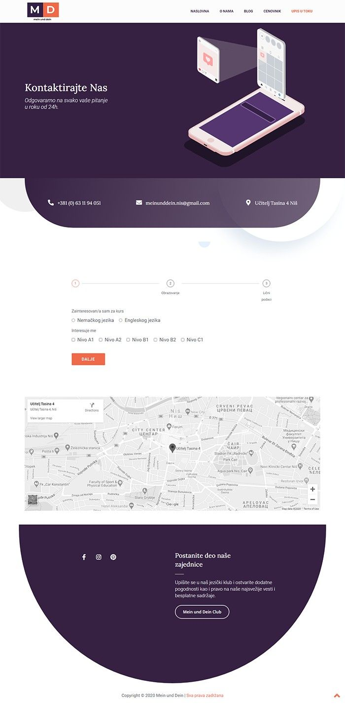 Mein und Dein - Agencija za Digitalni Marketing Bluelinemedia - Kontakt_new